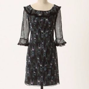 Anthropologie Anna Sui Chair Patterned Dress sz. 4